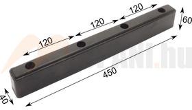 Ütközőgumi 450x40x60